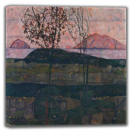Schiele, Egon: Setting Sun. Fine Art Canvas (003667)